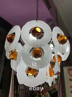 LAMPADA LAMPADARIO vetro Murano space age vintage glass lamp