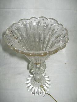 Lampe Ancienne En Verre De Murano-des Années 1950-vintage Murano Glass Lamp-n°3