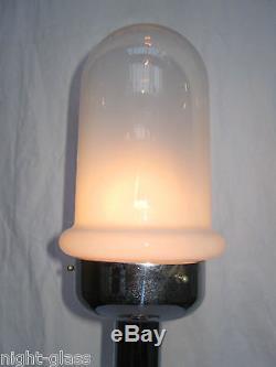 Lampe Design Années 60/70 Métal Chromé Et Verre Murano/vintage Glass Lamp/n°b42