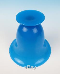 Large Antique/Vintage Blue Opaline Glass Vase Italian Blown Art Murano Venetian