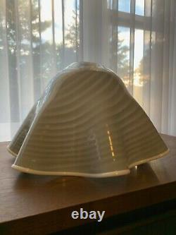 Large Vintage Vetri Venini Murano Glass Hanging Lamp Shade