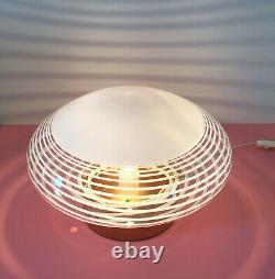 Large lovely mushroom table lamp swirl filigrana Murano glass vintage 70 U