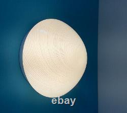 Light cream wall ceiling lamp swirl Murano glass lampada vintage 70 U