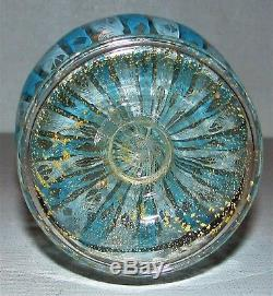 Lovely Vintage Venini Murano Italia Latticino Art Glass Vase / Aventurine