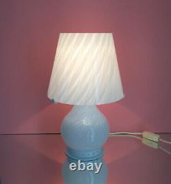 Lovely mushroom Zonca table lamp swirl Murano glass lampada vintage 70 U