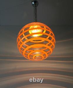 Lovely swirl orange pop chandelier Murano glass lampadario vintage 60