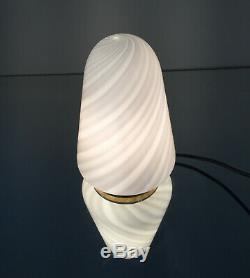 Lovely table lamp-lampada tavolo swirl Murano glass design'70 vintage U