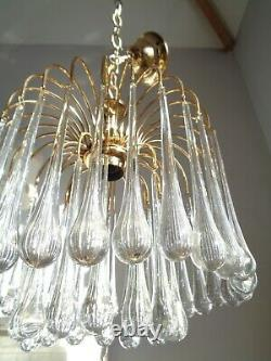 Lovely vintage Murano glass waterfall chandelier