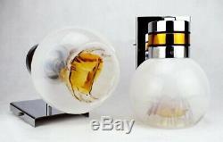 MAZZEGA MURANO GLASS Vintage Sconces Light Lamp Mid Century Modern 60s Sputnik