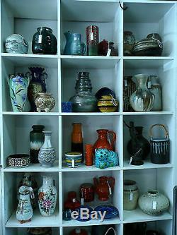 MURANO ART GLASS 1950s 60s RETRO VINTAGE BLUE BIOMORPHIC BOWL