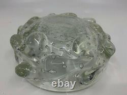 MURANO BAROVIER VETRO glass ciotola bowl vintage a bugne