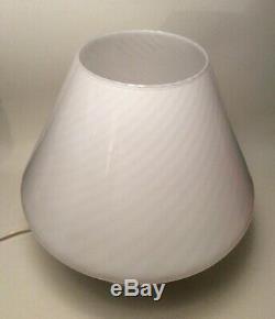 MUSHROOM MURANO GLASS LAMP 39 cm VINTAGE 70 MID-CENTURY venini seguso barovier