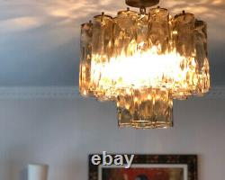 Magnificent VINTAGE MURANO Glass Multi Tube VENINI CEILING LIGHT CHANDELIER