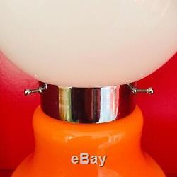 Mazzega Design Carlo Nason Orange Murano Glass Lamp 70s Vintage Made in Italy