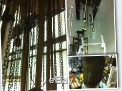 Mid Century Large Mazzega Murano Ice Glass Italian Chandelier Vintage lamp 1960s