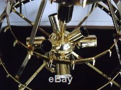 Mid Vintage 4 Tier Camer Murano Venini triedi Glass chandelier -120 crystals