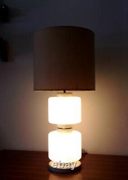 Midcentury Table Lamp Opal Murano Glass 50s 60s Italian Design Vintage Modernist