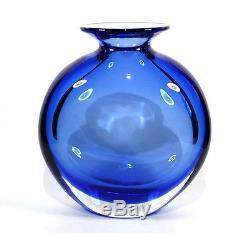 Mod Vintage Seguso Flavio Poli Murano Italy Art Glass Vase Sommerso 9.75 Lbs