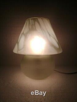 Murano Glass Vintage Mushroom Table Lamp/Murano Glass Lamp/Mid-century Lighting