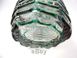 Murano Seguso Fenicio Glass Vase, Glas, Girlanden, Fratelli Toso Italy vtg 1950s
