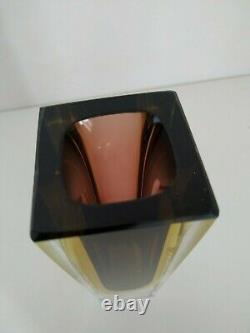 Murano Sommerso Flavio Poli Vintage Glass Vase