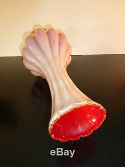Murano Venetian Vintage Peony Glass Vase poss 50's/60's