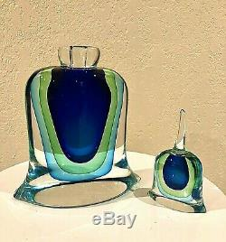 Murano Vintage Mid Century Modern Perfume Bottle Sommer. FORMIA, Made In Italy
