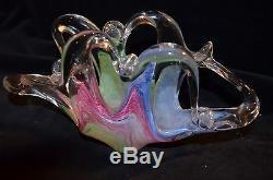 Murano Vintage Sculptured Art Glass Vase