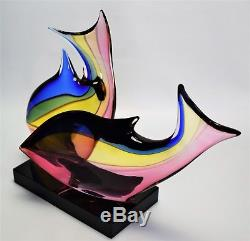 Murano glass Sculpture Signed Archimede Seguso Fish Vintage
