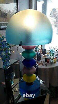 New Vintage Cenedese Signed MCM Mushroom Murano Lamp