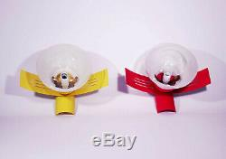 Pair Space Age Lamp Sputnik Wall Light Mid Century Sconce Vintage Murano Glass