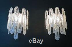 Pair of vintage Murano wall sconce by Mazzega