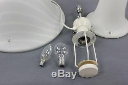 Peill & Putzler Mushroom Table Desk Lamp Murano Glass Mid Century Vintage 1/2