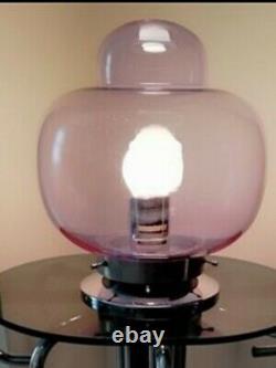 RARE Murano Italian Mushroom table Lamp By Carlo Nason For Mezzega 1960s VGC