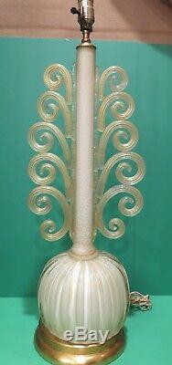 RARE Vintage Murano Venetian Glass Lamp 30 Barovier e Toso