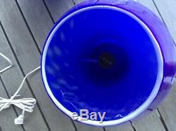 Rare Cobalt Blue Vintage Italian Murano Mushroom Glass Lamp New Old Stock Venini