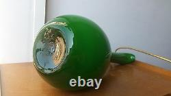 Rare Decanter Empoli Murano Art Glass Marked Vintage MID Century Green