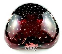 Rare Murano Studio Art Glass Alfredo Barbini Vintage Ashtray Bowl Centre Piece