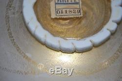 Rare Vintage Carlo Scarpa Bowl Murano Glass with Label Pauly & C