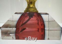 Rare Vintage Murano SOMMERSO Glass Lamp Seguso Flavio Poli Mandruzzato