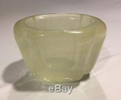 Rare Vintage Venini Murano Gold Bubble Heavy 4.5lbs Glass Vase Italy 1950s