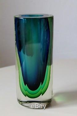 Rare forme Vintage Rétro MURANO Sommerso Seguso flavio poli art glass Tall Vase
