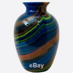 Rare marmored glass vase vintage Missoni Murano Art Glass 80s Perfect condition