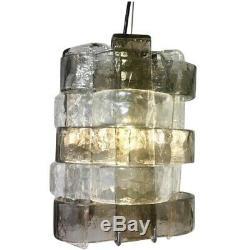 Rare vintage Murano glass chandelier pendant Design Carlo Nason for MAZZEGA 70s