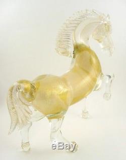 SPLENDID Vintage Handmade Murano Art Glass Venetian REARING HORSE Figure STATUE