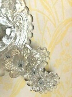STUNNING LARGE 49cm Vintage Venetian Murano gold dust Glass wall Mirror