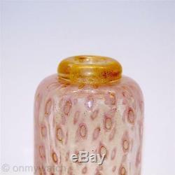 STUNNING Vtg MURANO Italy Perfume Bottle A. BARBINI ArT GLaSs GOLD Aventurine