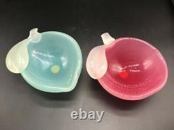 SUPERB 1960 Vintage Murano Archimede Seguso label alabastro glass sculpture bowl