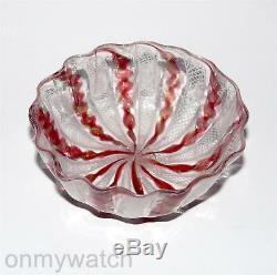 SWEET Vtg MURANO DiSH Italy RETORTOLi Art Glass Latticino Venetian ZANFIRICO