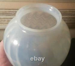 SWIRL art deco glass lamp globe murano italy vtg nuart frankart antique egg cone